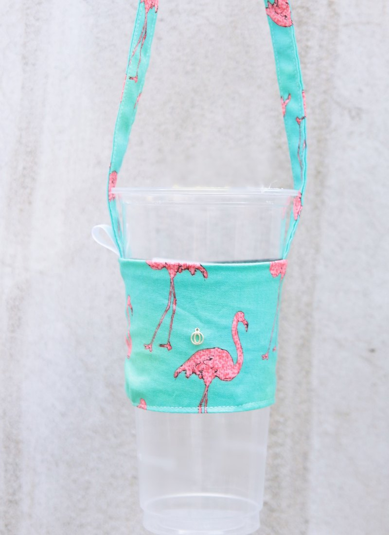 Greenland red crane environmental protection bag handmade beverage bag custom-made your own English tag
