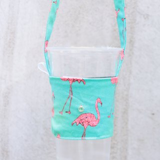 Greenland Red Crane Green Bag Handmade Drink Bag Customized Your English Hangtag
