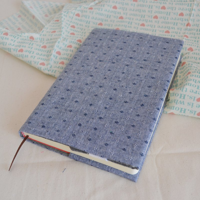 Blue and gray jacquard handmade book / adjustable book cover / hand account cover