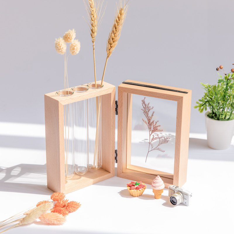 New product [Test tube flower frame set] Does not contain dry flowers │ Home wedding decoration Hydroponic dry flowers
