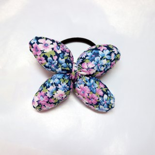 Blue Petal Q Cotton Butterfly Hair Tie Hair Ring*SK*