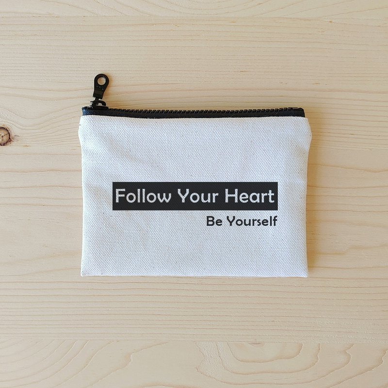 Positive energy flat coin bag_follow your heart