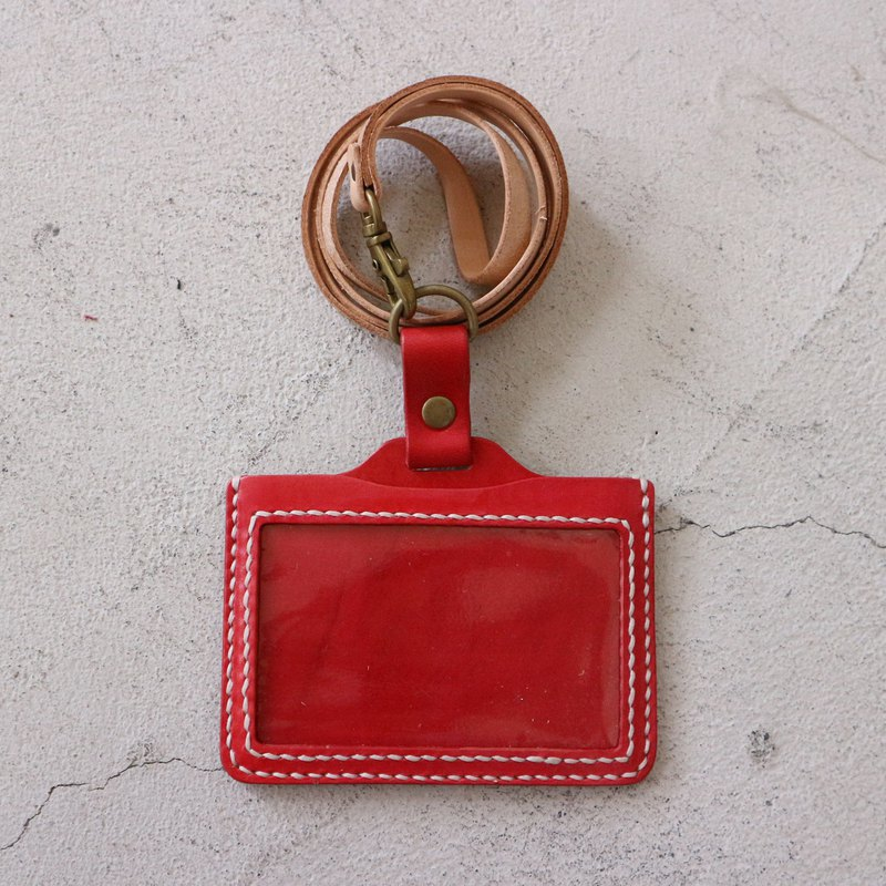 Play leather master course:: ID card set (with lanyard) Experience event appointment class leather DIY