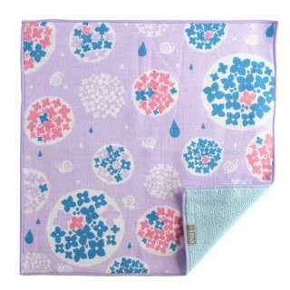 【IMA】WAFUKA Japan made Absorben, Soft, Cute & Unique Handkerchief - Hydrangea