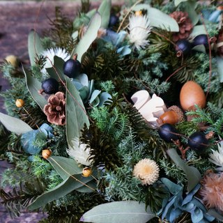 December Floral Course Classic Nobelson Big Wreath Christmas Christmas Experience Dry Flower DIY