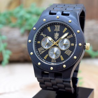 EINBAND Sand Ebony & Gold 46mm Wooden Watch