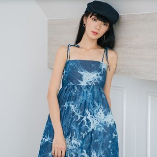 Indigo Blue Floral Dress