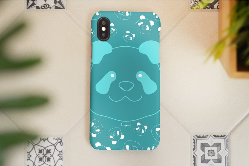 iphone case smiley blue panda for iphone 6,7,8, iphone xs, iphone xs max