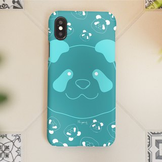iphone case smiley blue panda for iphone5s,6s,6s plus,7,7+, 8, 8+,iphone x
