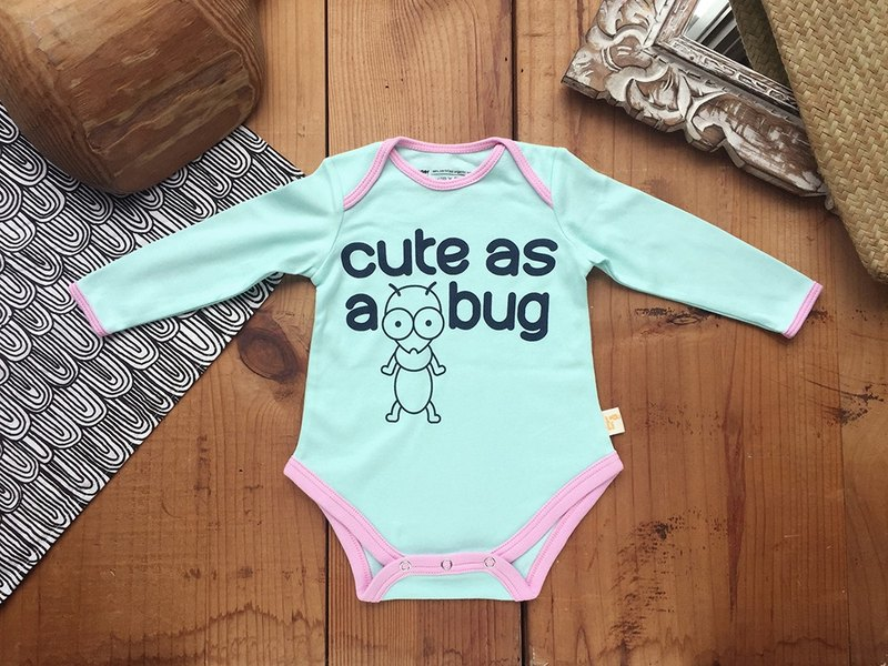 Little Ant ANT LONG SLEEVE ONE PIECE PATCH GOTS Certified Organic Cotton 180