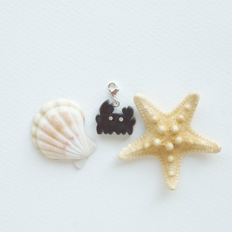Crab wooden charm