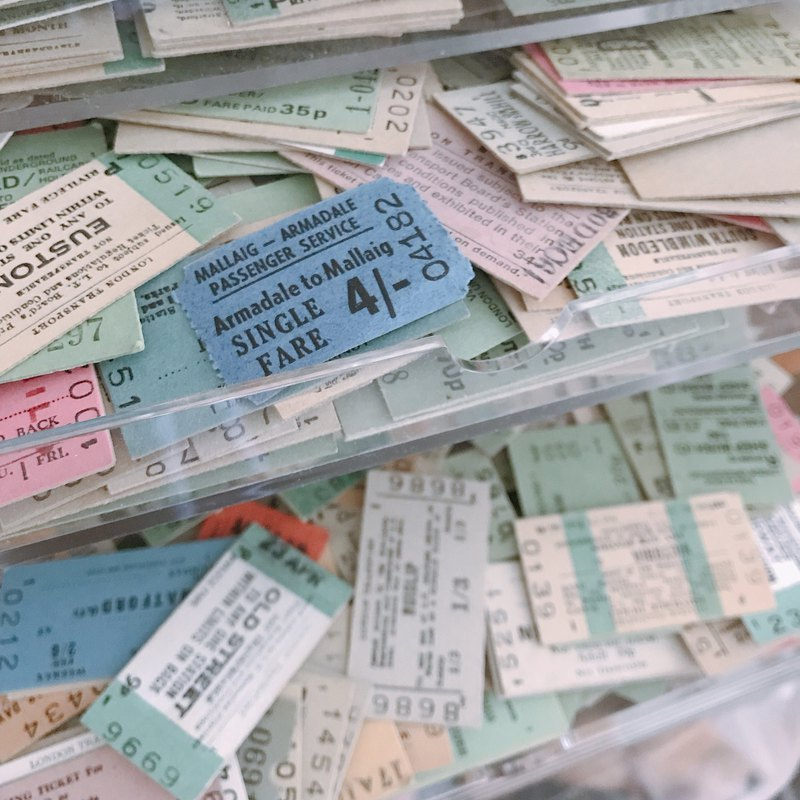 Vintage UK Railway Tickets (15pcs)