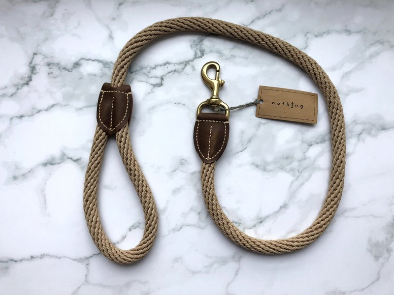 Rope pet traction rope brown