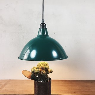 Early export German military green aluminum cover light industrial chandelier