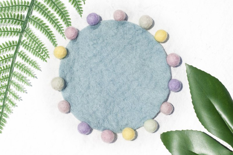 Exchange gifts ethnic wind forest wool felt coasters rainbow dot coasters - macarons suction coasters