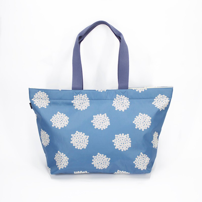 Ra Eco-friendly Super Light Waterproof Floral Tote (Blue Blossom)
