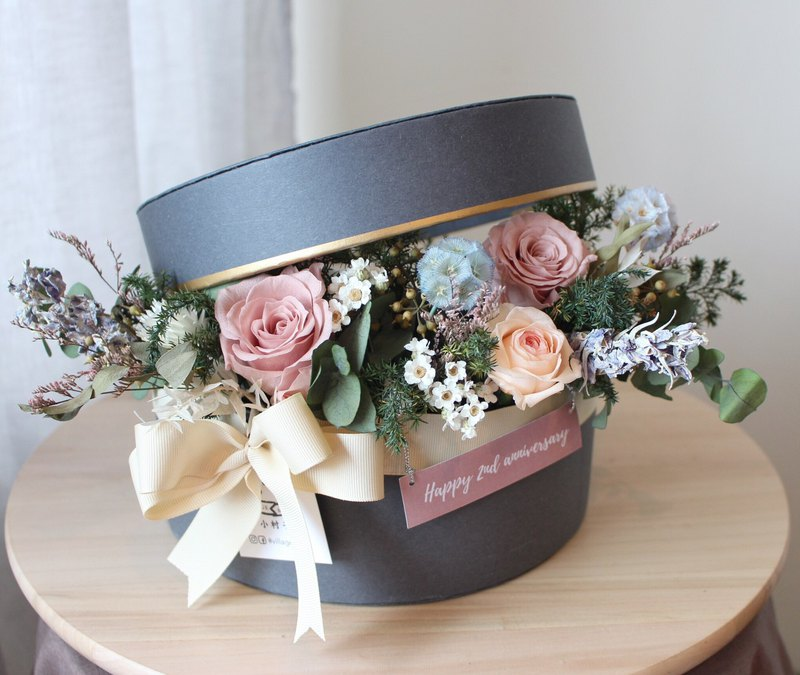 360 degree zero dead end eternal flower gift box (L) (can be placed on the wedding ring box)