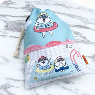 Eggheads pool party / drawstring Pouch