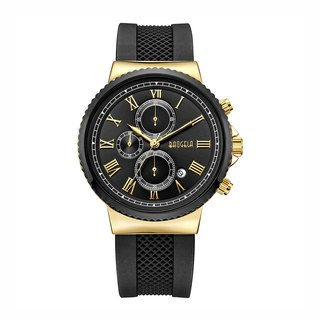 EUROPE SPECIAL EDITION Collection - LONDON Black Gold Dial / Black Silicone Watch