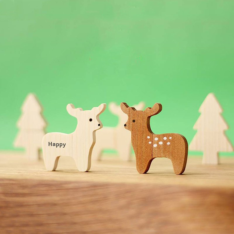 CUSTOMIZABLE Wooden Animal USB Flash drive - Deer