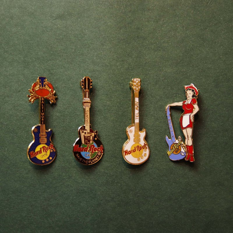 Tsubasa.Y Ancient House Hard Rock Guitar Pin (with five models), badge pin brooch