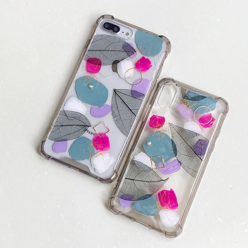 Paint and flower phone case