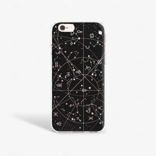 Star iPhone Case, Galaxy iPhone Case, Constellation iPhone Case, Space iPhone Case, Zodiac iPhone Case, Black iPhone 6S Case Clear, Black iPhone 6 Case