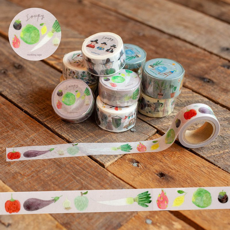 野菜紙膠帶 Vegetables masking tape