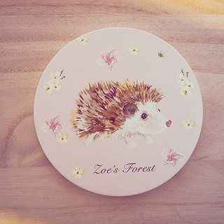 Zoe's forest Pink Robinia Ceramic Coaster