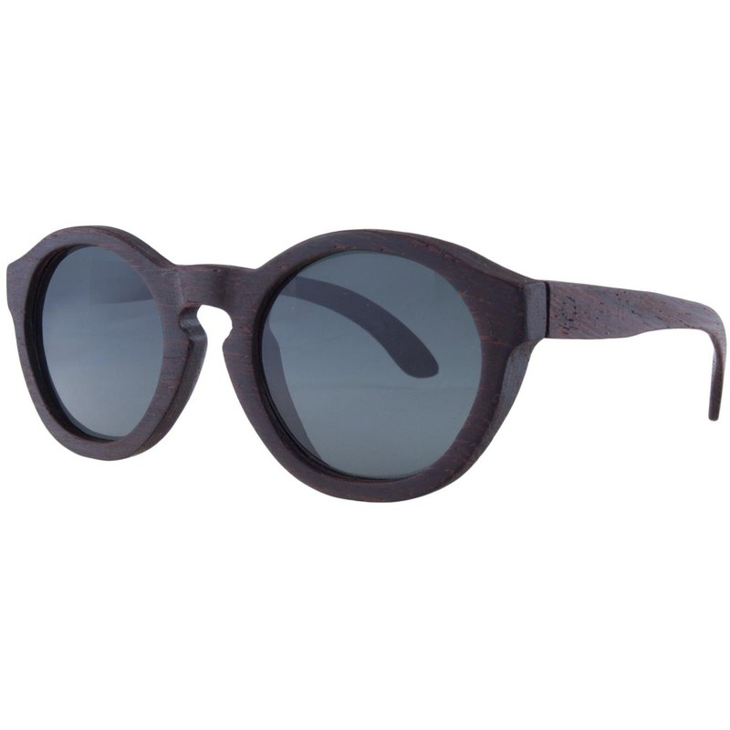 Plantwear European handmade solid wood sunglasses - retro series iron knife wood frame + space gray lens