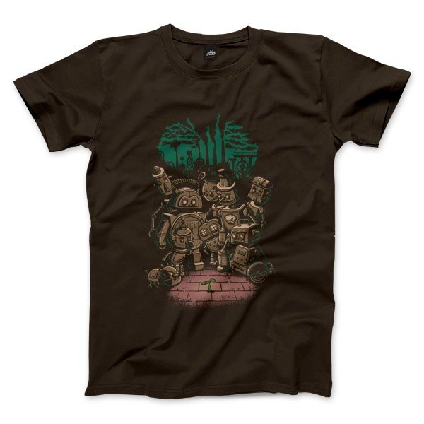 Green revolution in the age of steam - dark coffee - Unisex T-Shirt