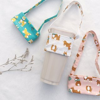Hand made drinks cup bag / small dogs