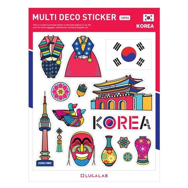 World wind decoration big sticker 04. Korea