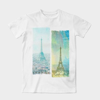 Neutral short-sleeved T-Shirt | Paris impression is issued by dragging Wang | Z999UT006