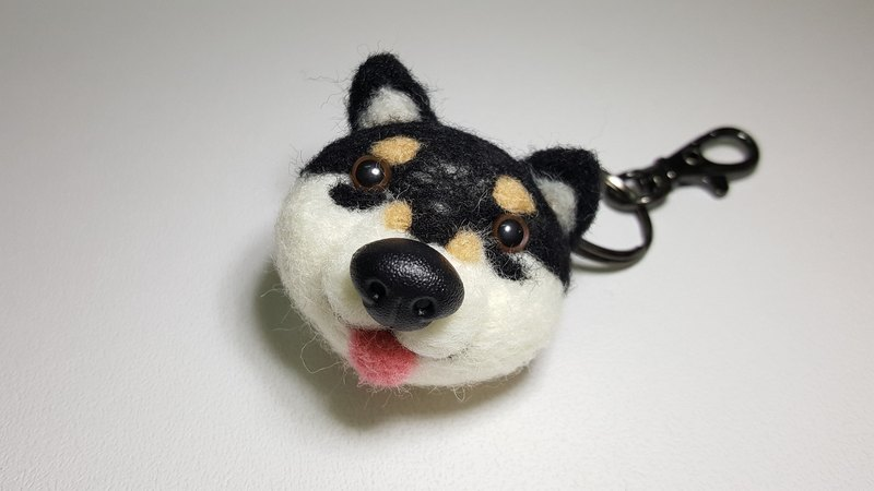 Original wool felt natural stay big nose playful little black tea key ring strap / pin (new mail free shipping in Oh!)