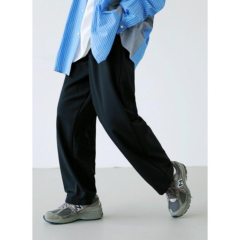 黑/灰/棕/藍 4色 基礎款立體剪裁西裝長褲 中性簡約寬褲子 M-2XL