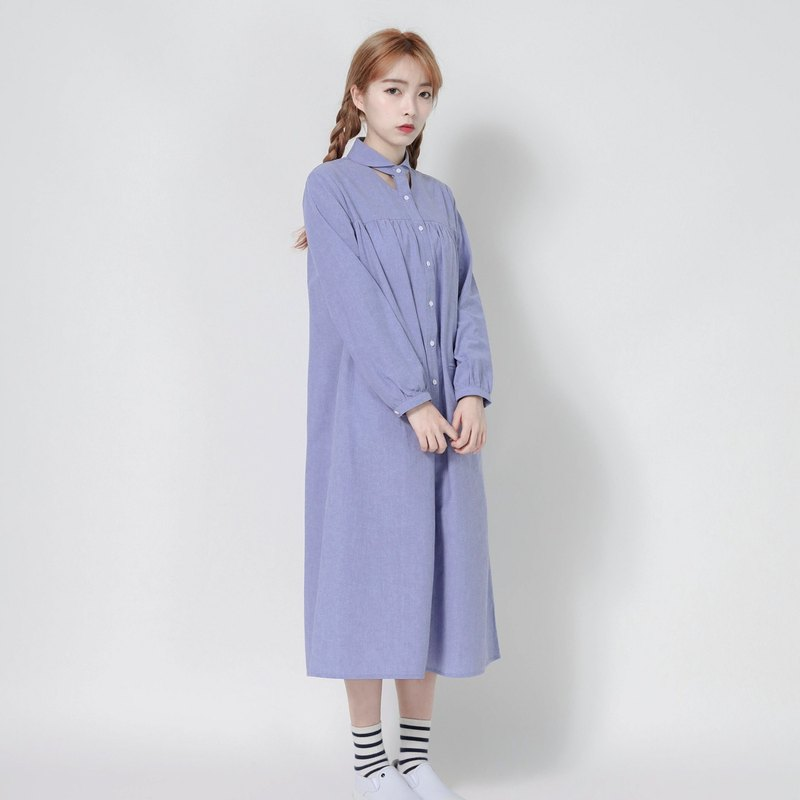 Windsor Duke Windsor Hollow Dress _7SF004_Blue Purple