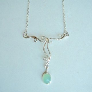 Common opal · Necklace