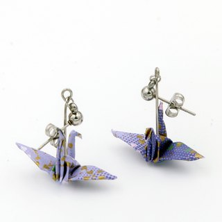 Wind cranes earrings (lavender) - Valentine's Day gift