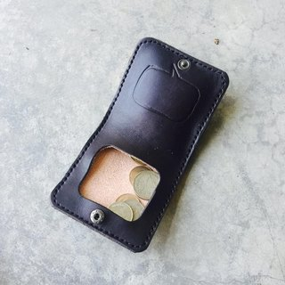 Black Whispering Leather Coin Purse