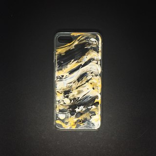 Acrylic Hand Paint Phone Case | iPhone 7/8 | Black & Gold