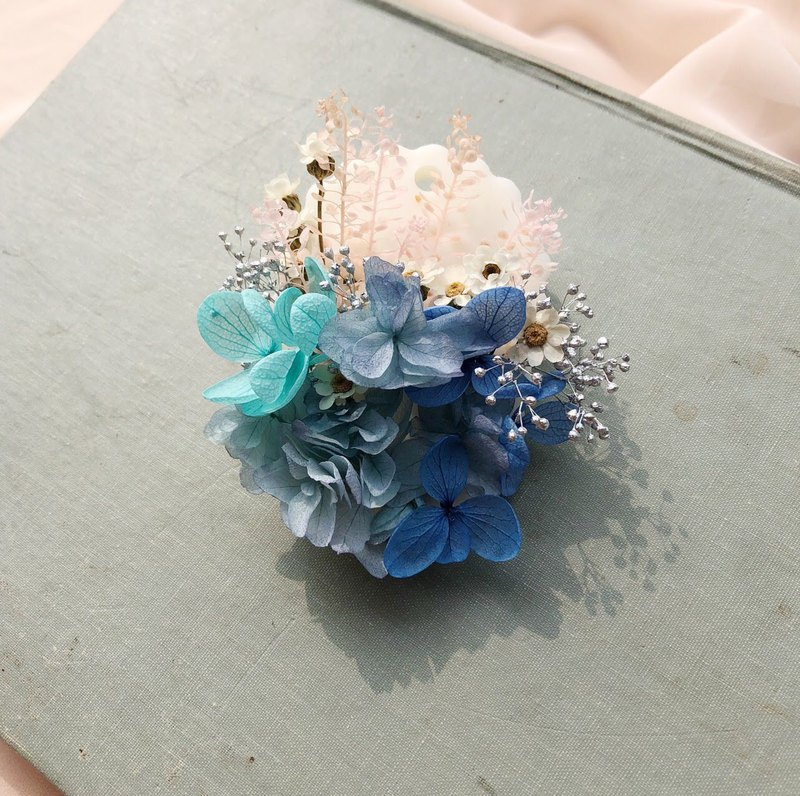 Elegant summer fragrant bricks do not withered petals blue hydrangea wedding small things home decoration gifts