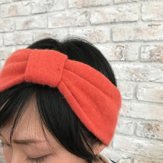 Acrylic Knitted fabric Hair Turban- Orange