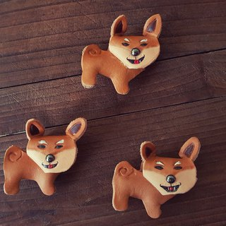 Cute Shiba intro to pure leather keychain - can be engraved name