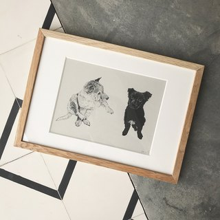 Staring animal series digital print replica No.6 | SAKOSTUDIO