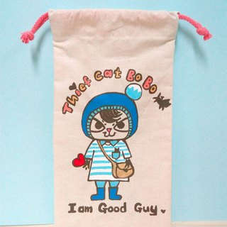 Hand-painted hand-made Thief cat BoBo Wenqing small thief cat treasure multi-purpose storage cable bag