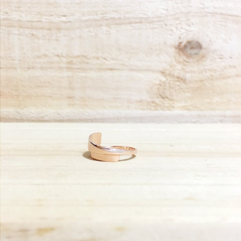 925 sterling silver ring _ return to zero (rose gold)