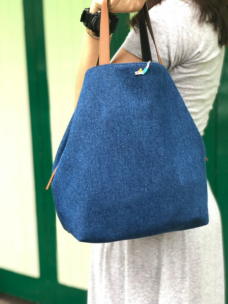 TIE-IT-UP Denim Handbag