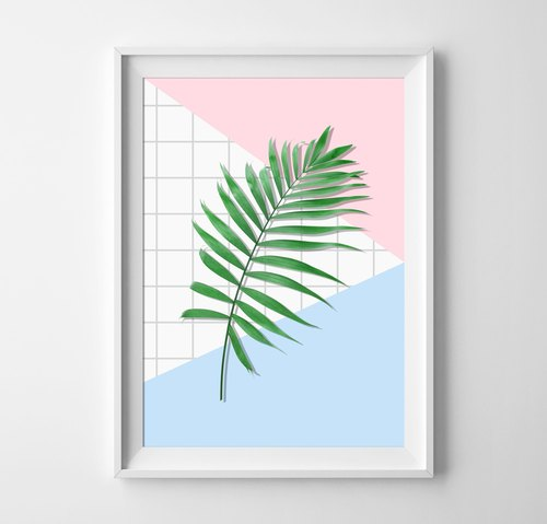 Palm leaf Customizable Hanging Poster