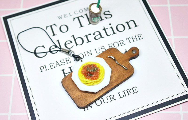 =>Clay Series - Italian Meat Sauce Noodle - Charm # can be changed into a key ring => limited *1